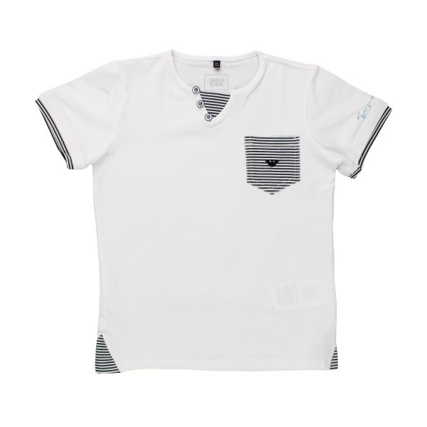 Armani Junior - T-SHIRT BIANCA BAMBINO TEEN 04