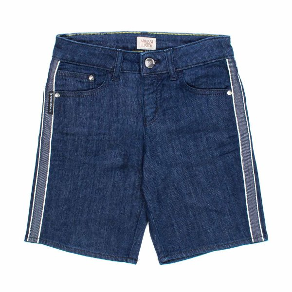 Armani Junior - BERMUDA DENIM BLU BAMBINO TEEN