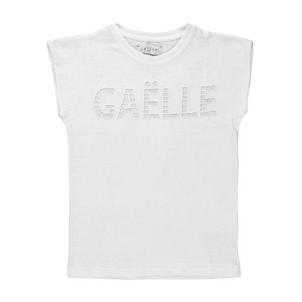 Gaelle Paris - T-SHIRT BIANCA BAMBINA TEENAGER 02
