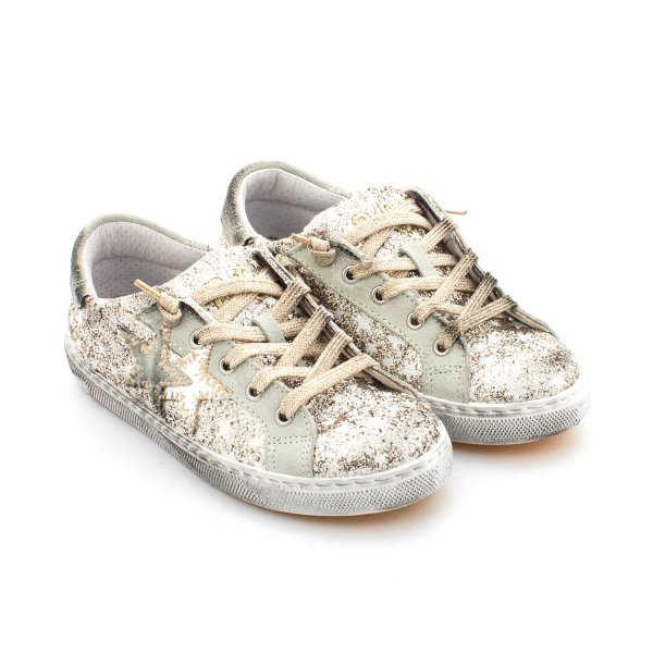 2Star - SNEAKER LOW ORO BAMBINA TEEN