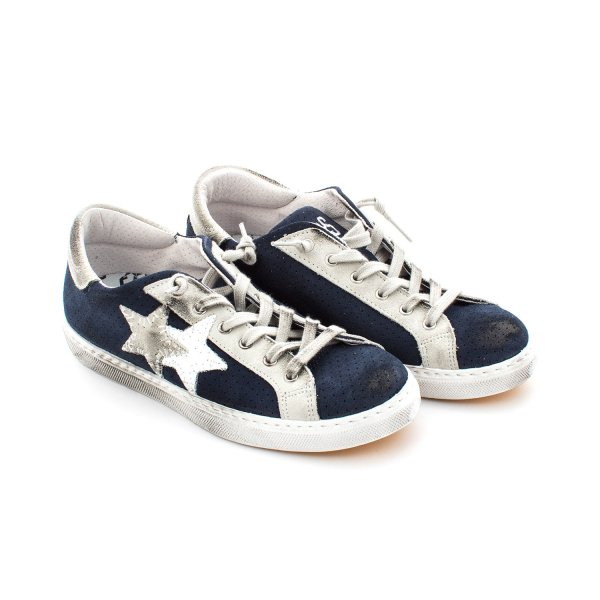 2Star - Sneaker Low Blue Suede Teen