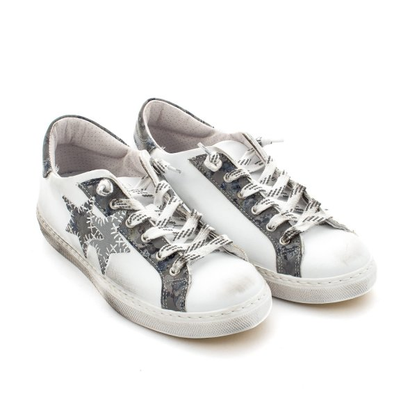 2Star - Sneaker Low Bianca Grigia Teen
