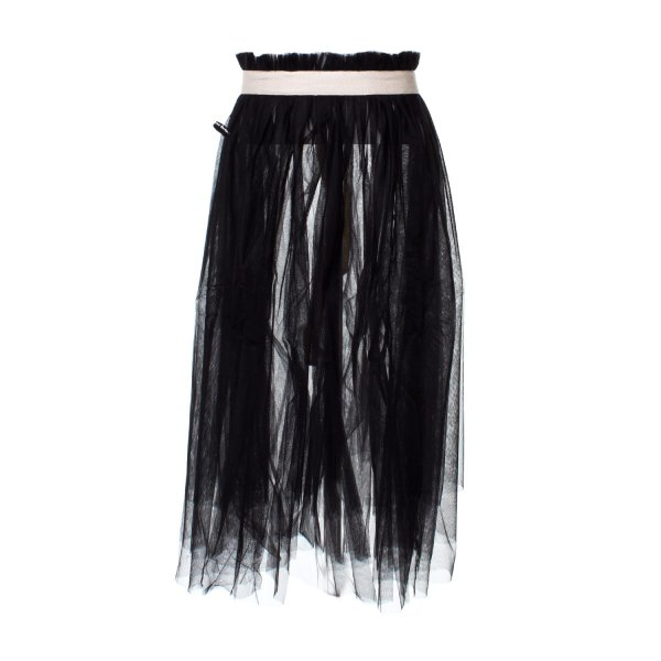 Little Creative Factory - SOTTOGONNA APERTA IN TULLE NERA BAMBINA TEEN