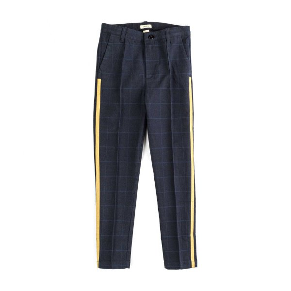 Bellerose - GIRL BLUE CHECK TROUSERS