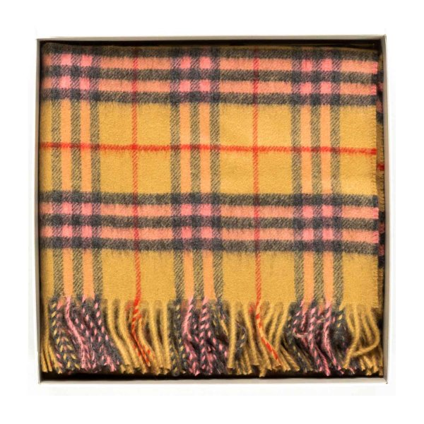 Burberry - Cashmere Blanket with check pattern