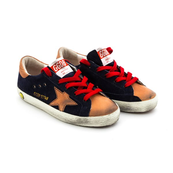 Golden Goose - SneakerS Superstar Blue for Boys