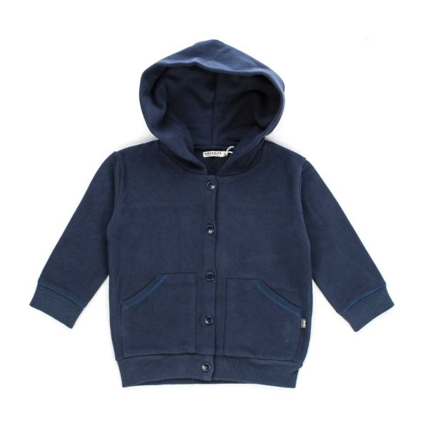Imps & Elfs - Blue sweatshirt with Buttons for Boys