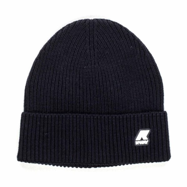 K-Way - UNISEX BLUE BEANIE WITH LOGO