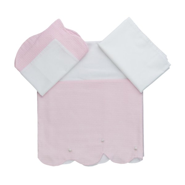 La Stupenderia - BABY GIRL PINK SHEET SET