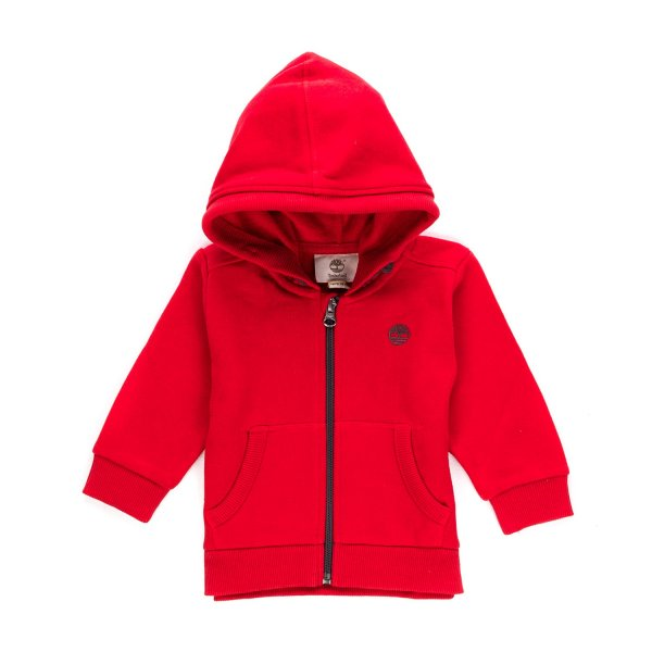 Timberland - Red Jumper with zip for Boys