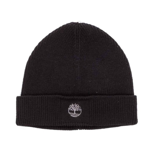 Timberland - BOY BLACK COTTON BEANIE