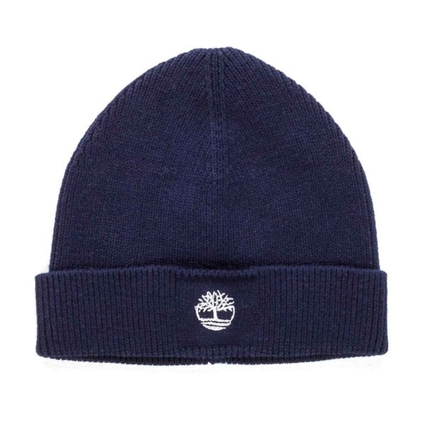 Timberland - BOY BLUE COTTON BEANIE HAT