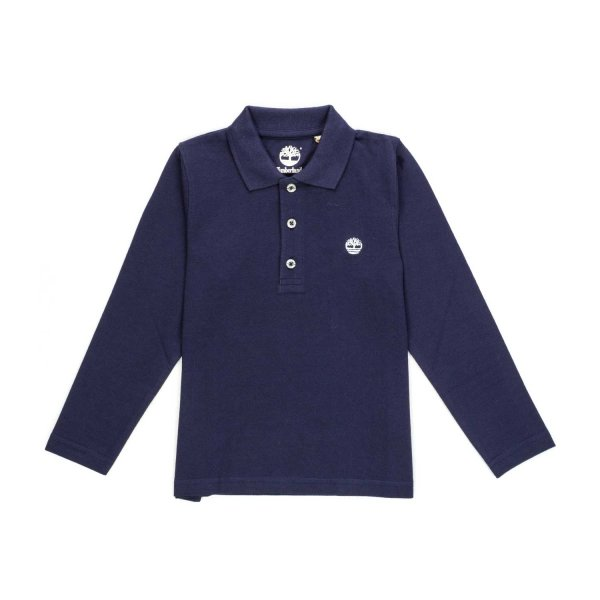 Timberland - BOY BLUE POLO SHIRT WITH LOGO