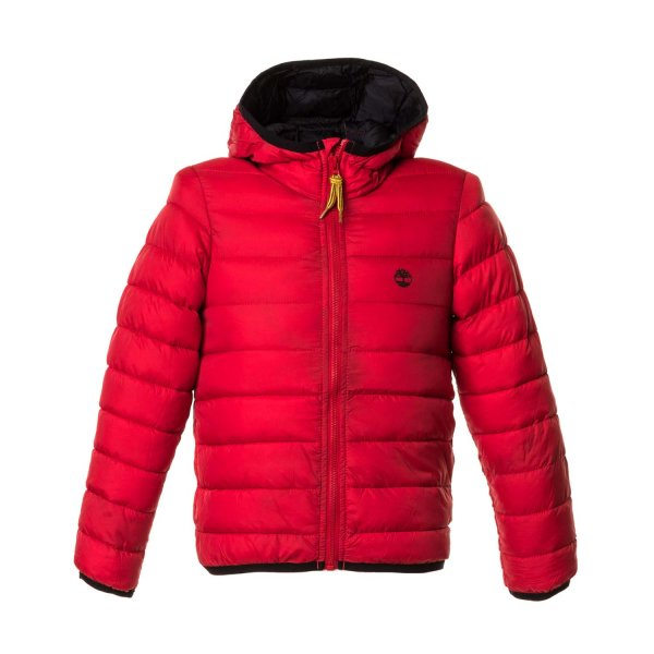 Timberland - BOY RED ZIP DOWN JACKET