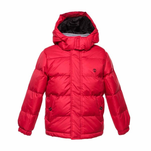 Timberland - Red down Jacket for Teens