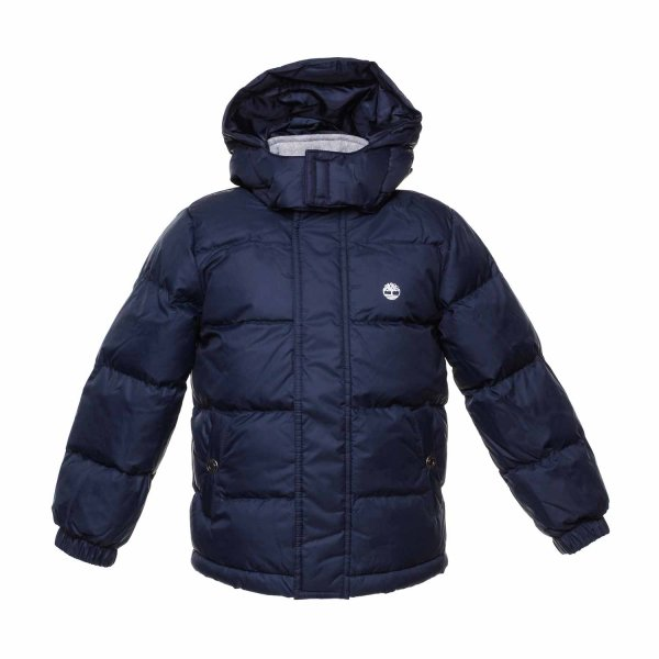 Timberland - Blue down jacket for Boys