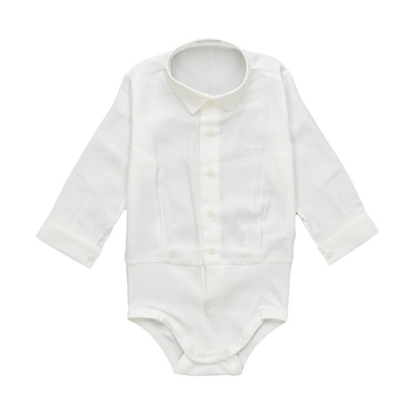 Il Gufo - BABY BOY WHITE SHIRT BODYSUIT
