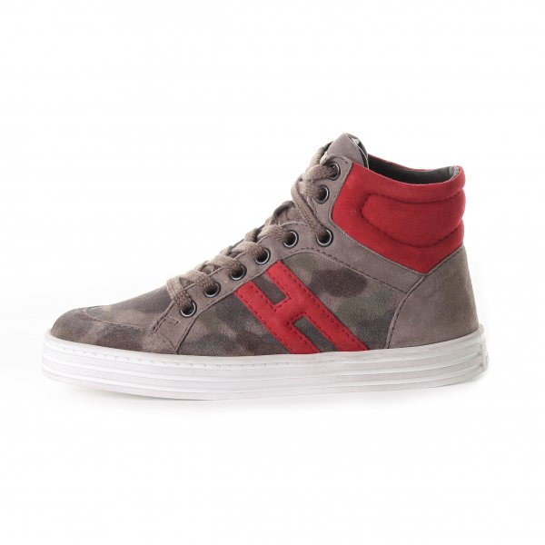 Hogan Rebel - HIGH TOP SNEAKERS FANTASIA CAMOUFLAGE BEIGE