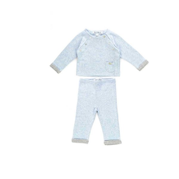 Tartine Et Chocolat - Light blue two piece outfit for Babies
