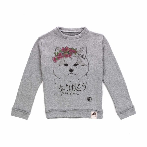 Oji - Gray sweatshirt for Girls