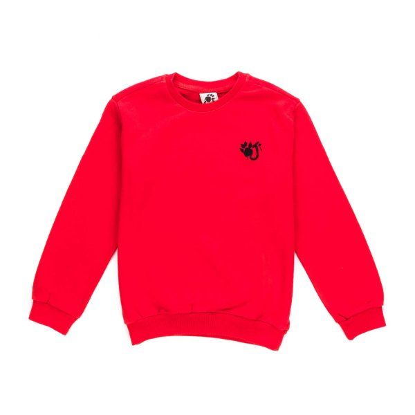 Oji - Red Sweatshirt with Logo