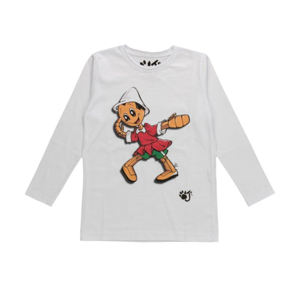 Oji - BOY T-SHIRT WITH PINOCCHIO PRINT