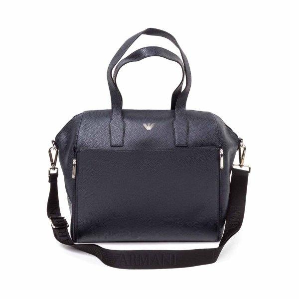 Armani Junior - Blue Changing Bag with Logo