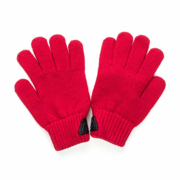 Armani Junior - Red Gloves with Logo for Boys