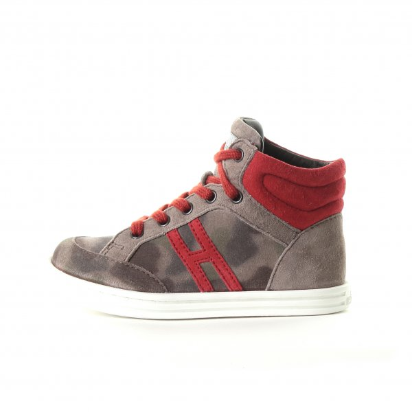 Hogan Rebel - HIGH TOP SNEAKERS CAMOUFLAGE BEIGE BABY