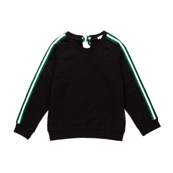 Lovely sweatshirt with glitter web patch by Piccola Ludo - annameglio.com shop online