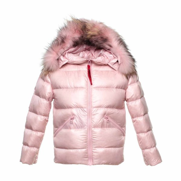 Freedomday - Short down jacket pink color for girls