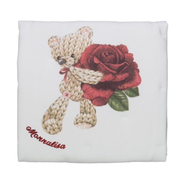 Monnalisa - BABY GIRLS TEDDY BEAR BLANKET