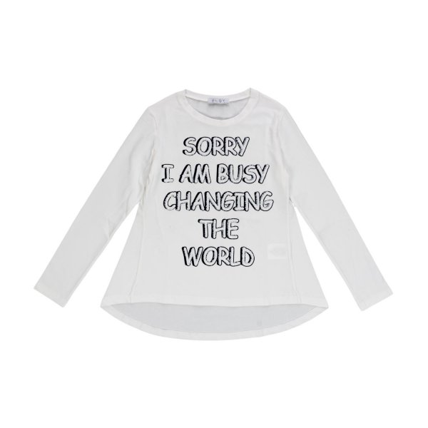 Elsy - Long sleeve Top with text for Girls