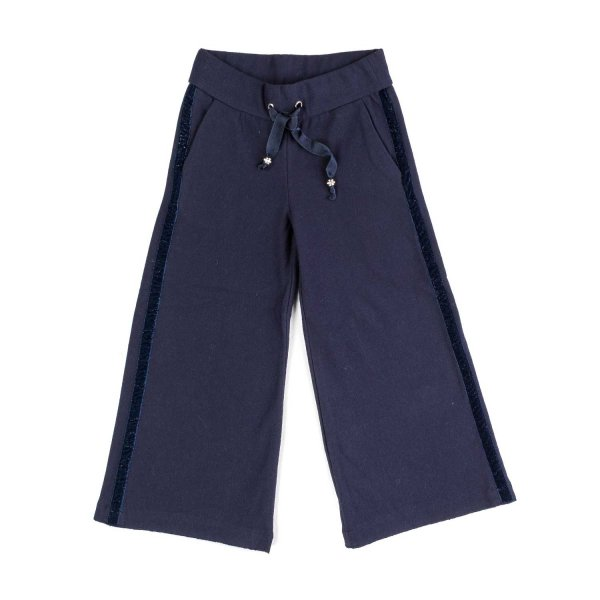 Elsy - LITTLE GIRL BLUE CROPPED PANTS