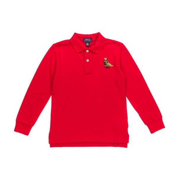 Ralph Lauren - BOY RED COTTON POLO SHIRT