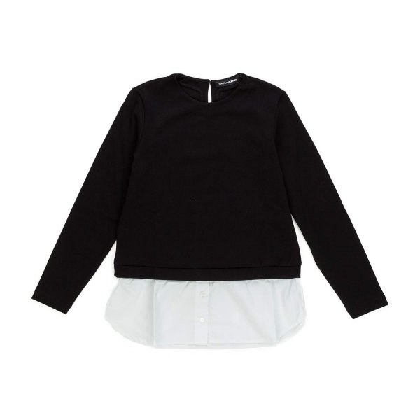 European Culture - Black sweater with shirt for Girls
