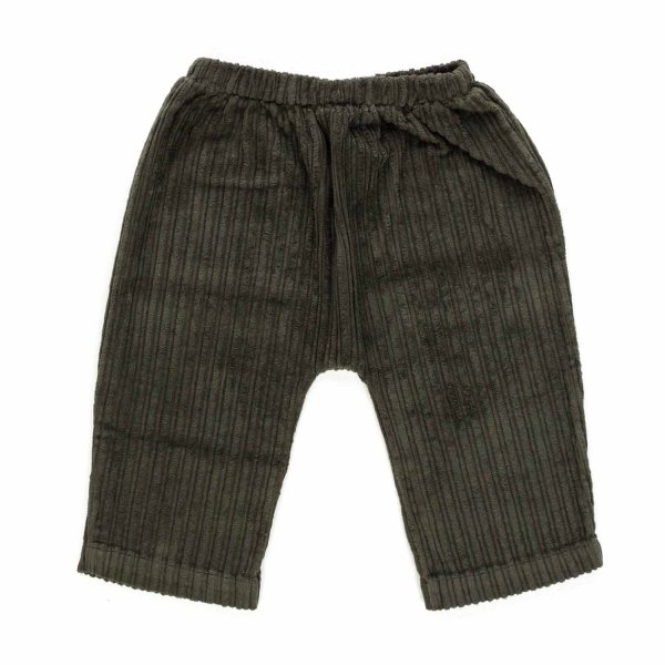 Olive - BABY BOY MILITARY GREEN TROUSERS
