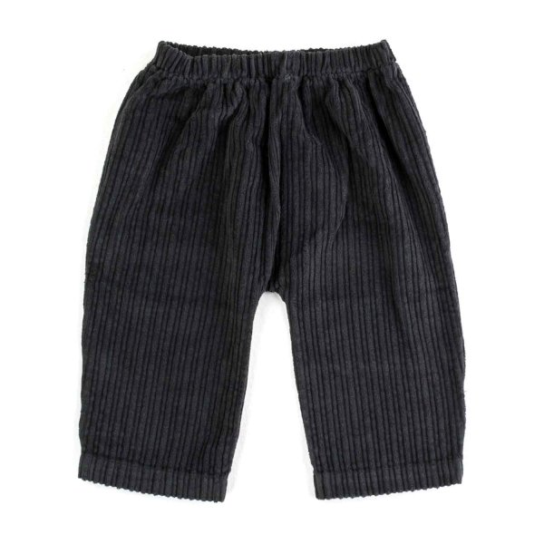 Olive - BABY BOY BLUE VELVET TROUSERS