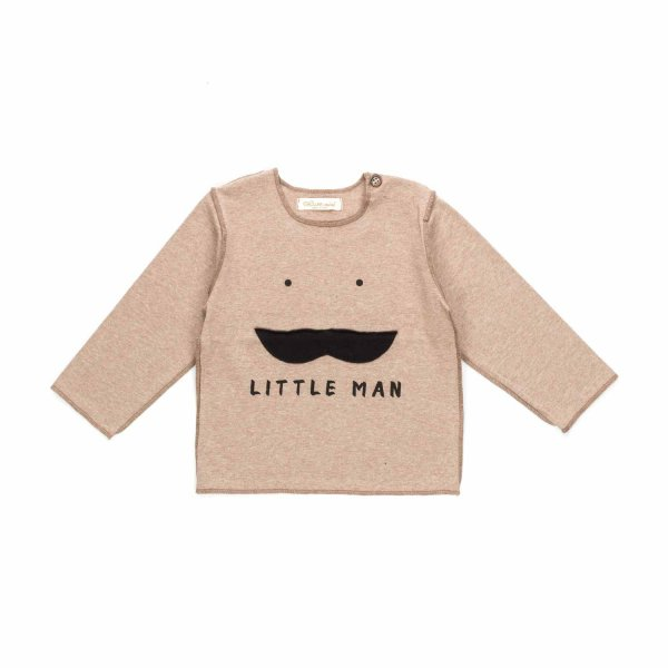 Olive - BABY BOYS LITTLE MAN PRINT T-SHIRT