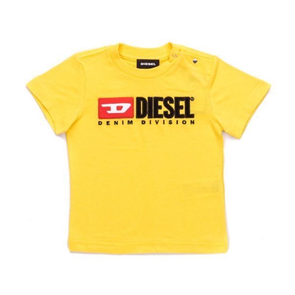Diesel - BABY YELLOW T-SHIRT WITH LOGO