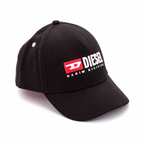 Diesel - UNISEX BLACK CAP WITH LOGO