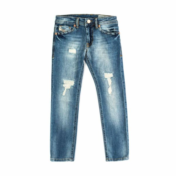 Diesel - JEANS STRAPPATI BAMBINO TEENAGER