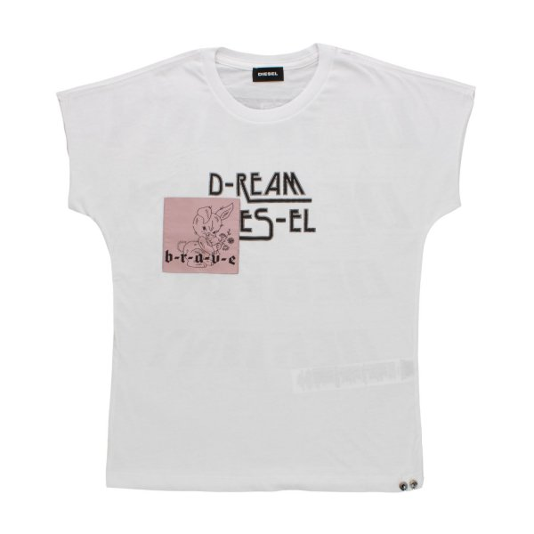 Diesel - T-SHIRT IN COTONE BAMBINA TEEN