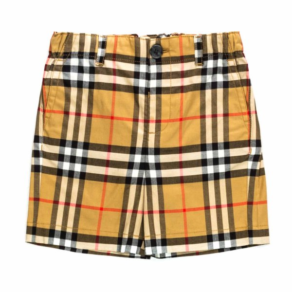 Burberry - CHECK SHORTS FOR BABY BOYS