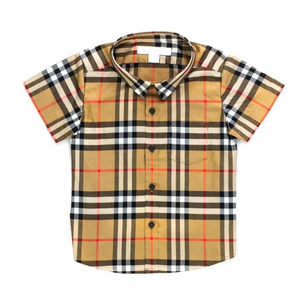 Burberry - BABY BOYS CHECK COTTON SHIRT