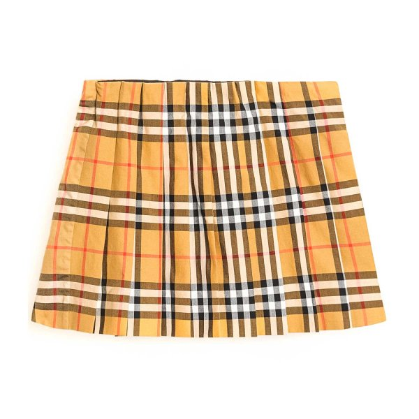 Burberry - CHECK PLEATED SKIRT FOR GIRLS