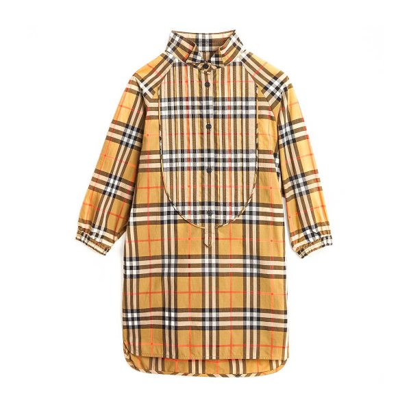 Burberry - VINTAGE CHECK DRESS FOR GIRLS