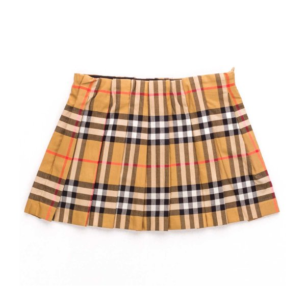 Burberry - CHECK PLEATED SKIRT FOR BABY GIRLS