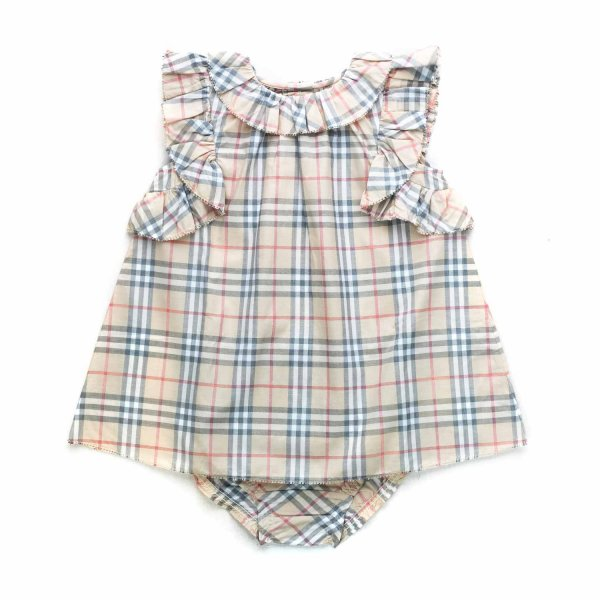 Burberry - BABY GIRL CHECK COTTON DRESS
