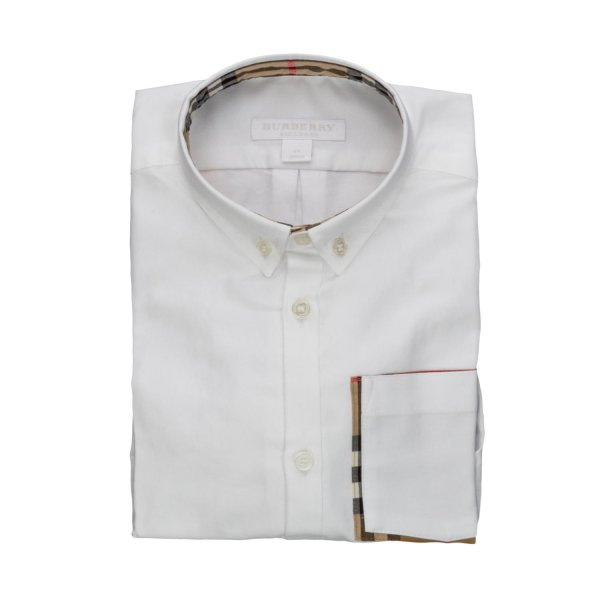 Burberry - BOY WHITE COTTON SHIRT